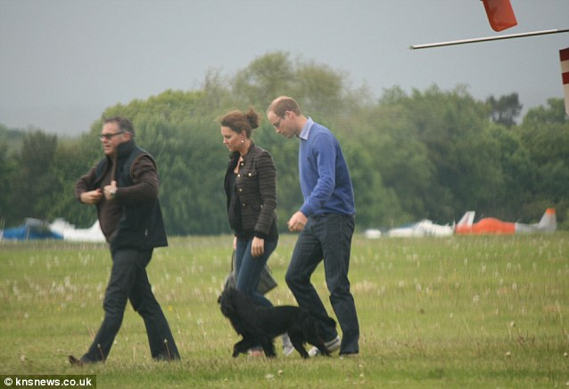 Duke and Duchess of Cambridge Helicopter