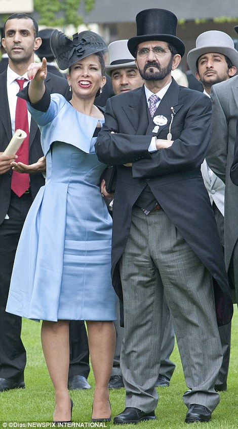 Sheikh Mohammed bin Rashid al Maktoum and his wife, Princess Haya of Jordan