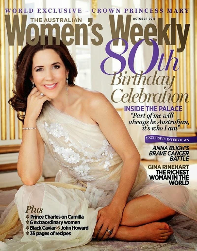 Mary di Danimarca nella copertina di Women's Weekly