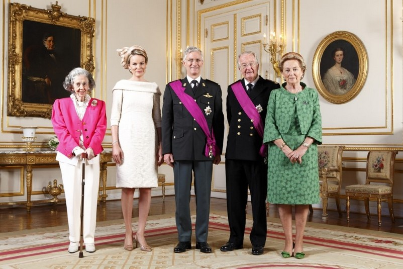 Abdicazione del Re Alberto II del Belgio e incoronazione del Re Filippo Abdication Of King Albert II of Belgium and inauguration Of King Philippe