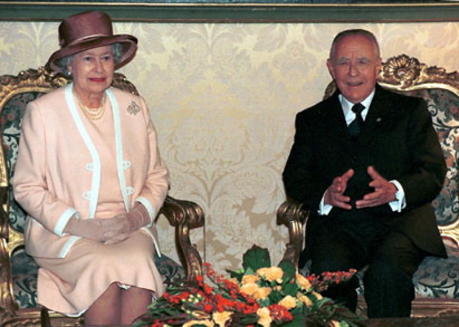 Con il Presidente Ciampi nel 2000