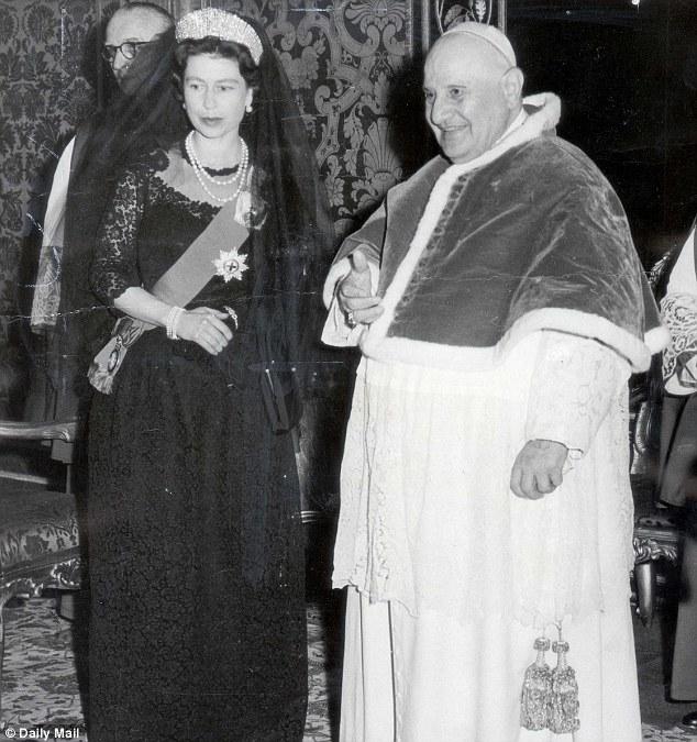Nel 1961 con Papa Giovanni XXIII