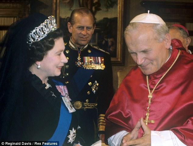 Con Papa Giovanni Paolo II nel 1980
