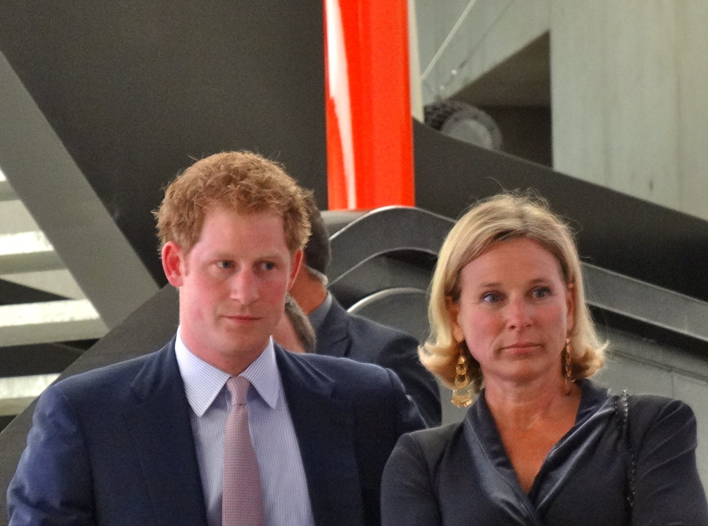 Il Principe Harry e Giovanna Melandri, presidente fondazione Maxxi Prince Harry and Giovanna Melandri, president of Maxxi foundation